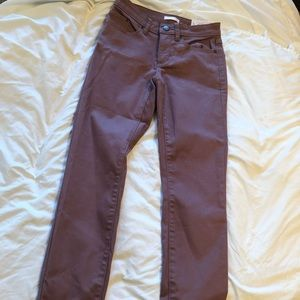 Cuffed Ankle Mid Rise Pants
